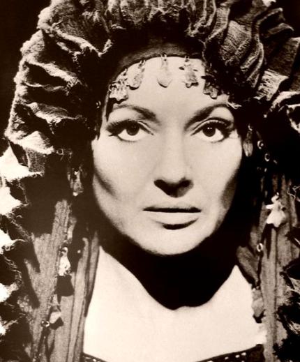 Ironically Maria Callas in a  film role as a Medea